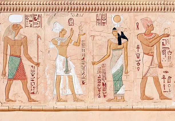 egyptian fresco - egyptisk kultur bildbanksfoton och bilder