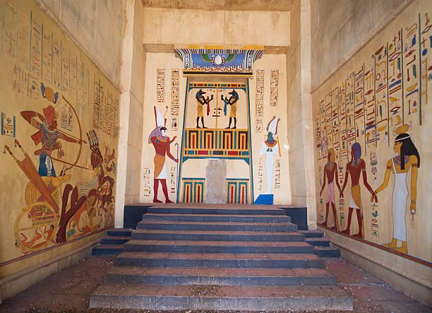 egyptian fresco stock photo