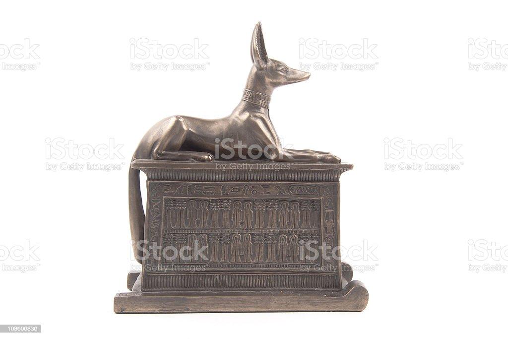 Egyptian God Anubis royalty-free stock photo