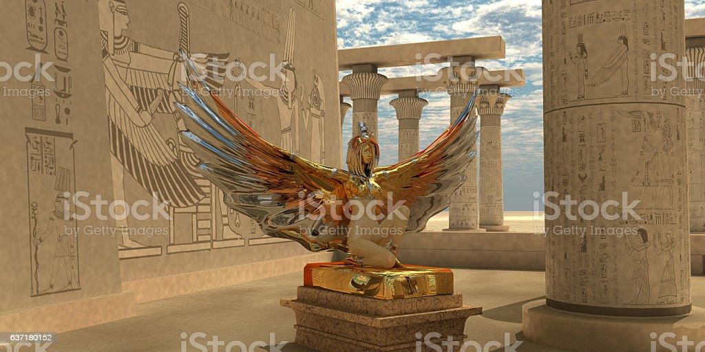 Egyptian God Isis stock photo