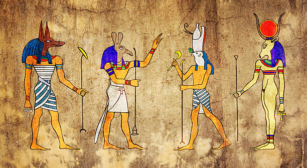 Egyptian Gods and Goddess stock photo