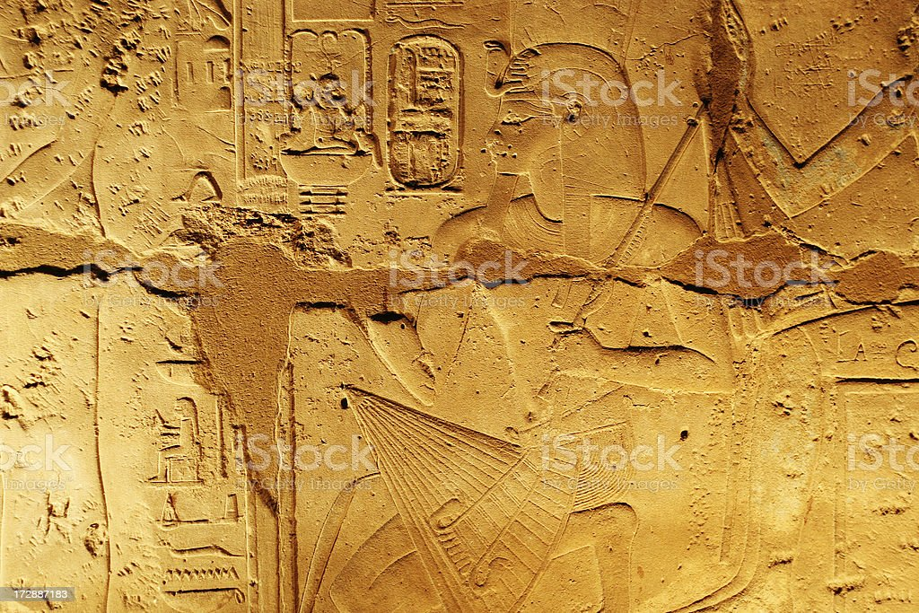 Egyptian hiearoglifs royalty-free stock photo