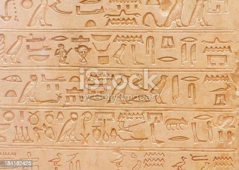 istock Egyptian hieroglyphics 184182425