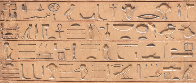614744994 istock photo Egyptian hieroglyphics 475744749