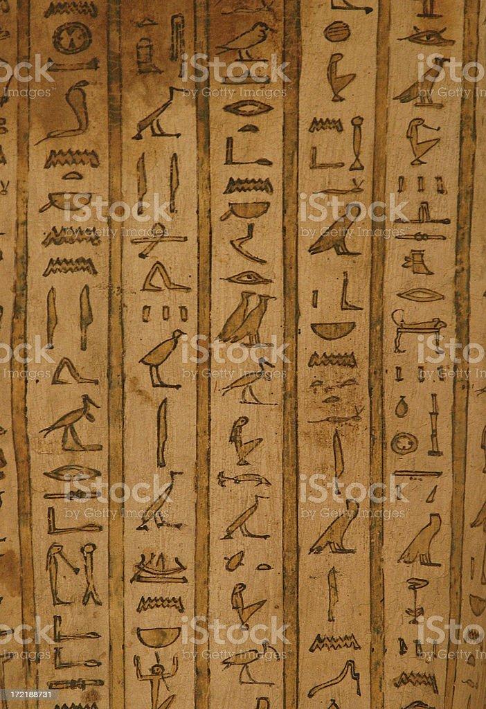 Egyptian hieroglyphs 2 royalty-free stock photo