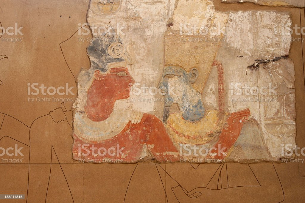 Egyptian Hieroglyphs royalty-free stock photo