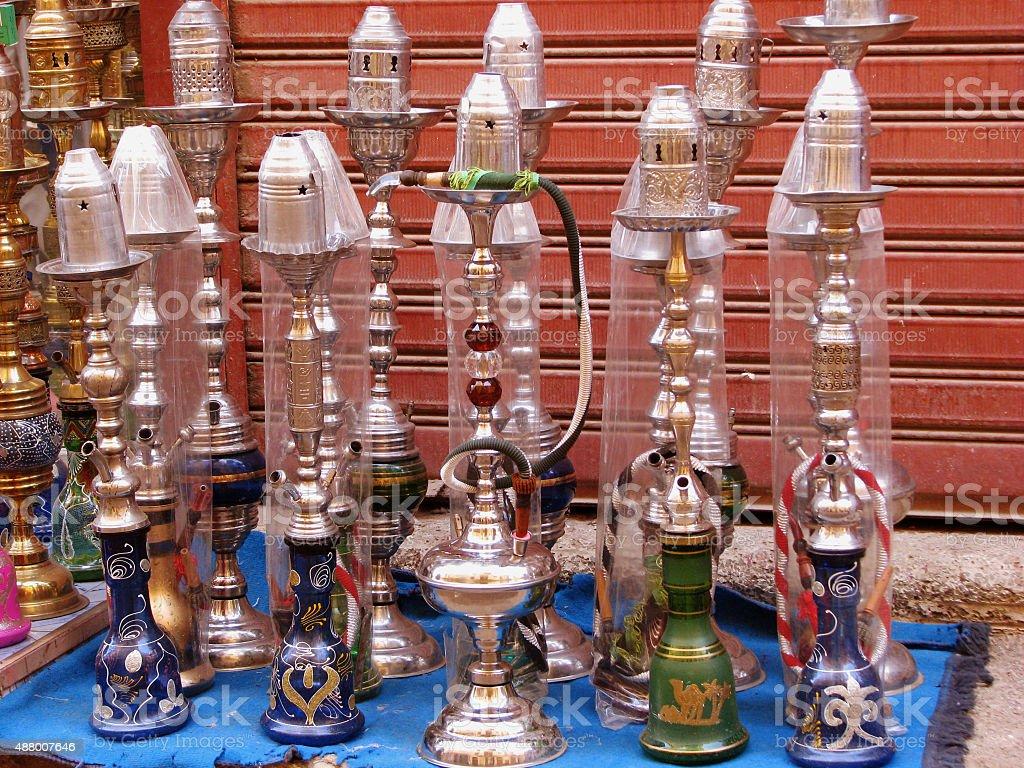 Egyptian Hookah - Waterpipe stock photo