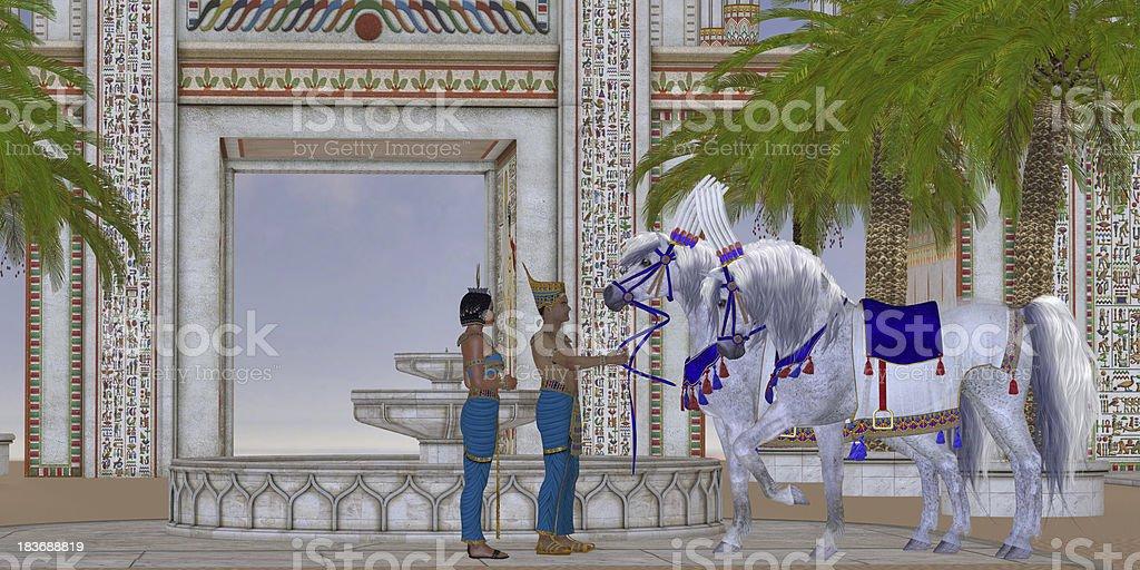 Egyptian Horses royalty-free stock photo