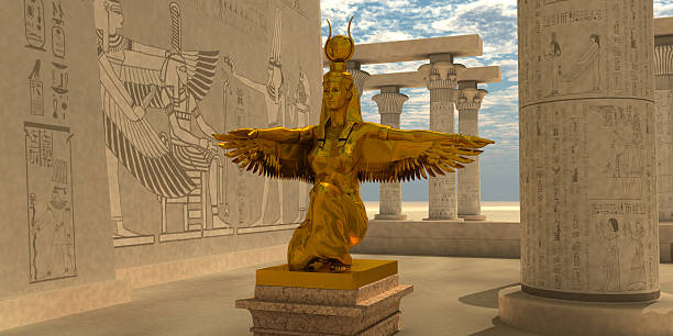 Egyptian Isis Statue stock photo