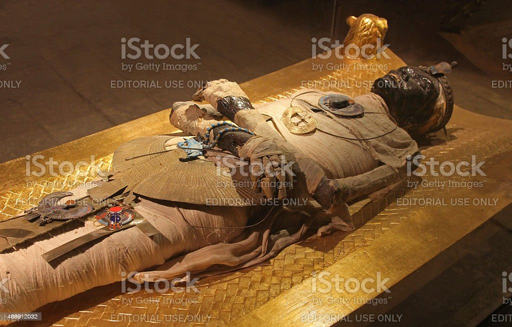 Egyptian mummy stock photo