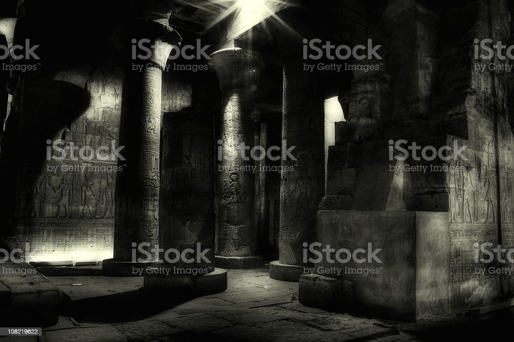 Egyptian Mummy Tomb, Kom Ombo ( Egypt ) stock photo