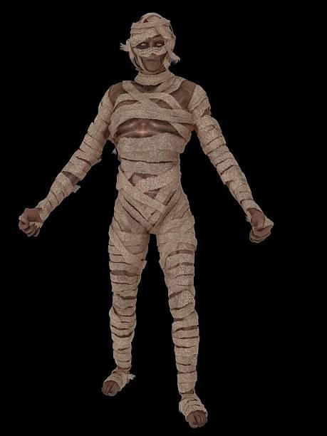 Egyptian mummy walking stock photo