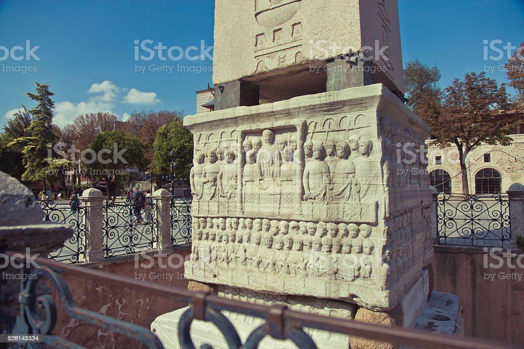 Egyptian obelisk in Sultanahmet, Istanbul, Turkey stock photo