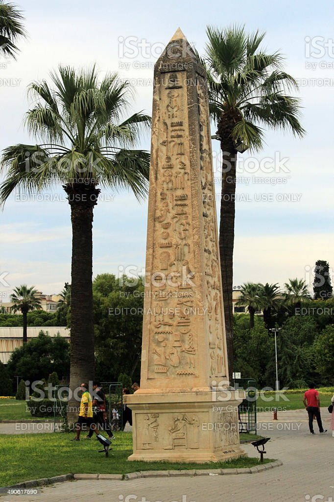 Egyptian obelisk stock photo