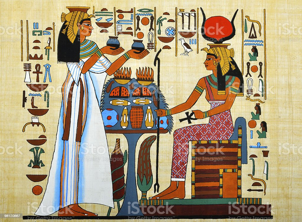 Egyptian Papyrus royalty-free stock photo