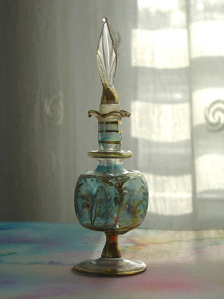 Egyptian Perfume bottle stock photo