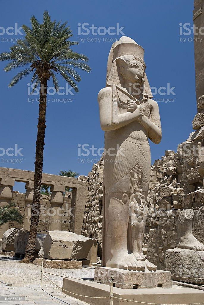 egyptian pharaoh in Karnak temple stock photo