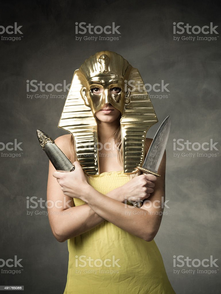 egyptian pharaoh mask stock photo