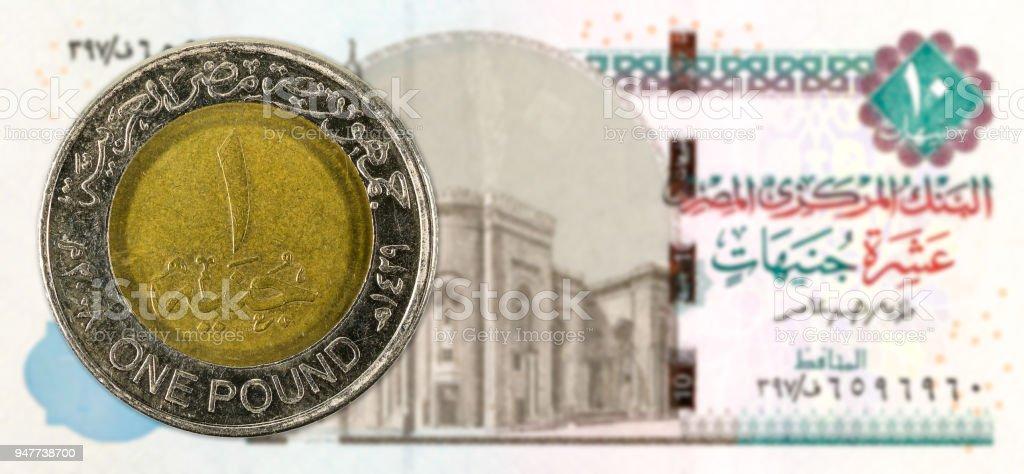 Photo Libre De Droit De 1 Piece De Livre Egyptienne Contre 10 Avers Egyptien De Plein Cadre De Billet De Banque De Livre Banque D Images Et Plus
