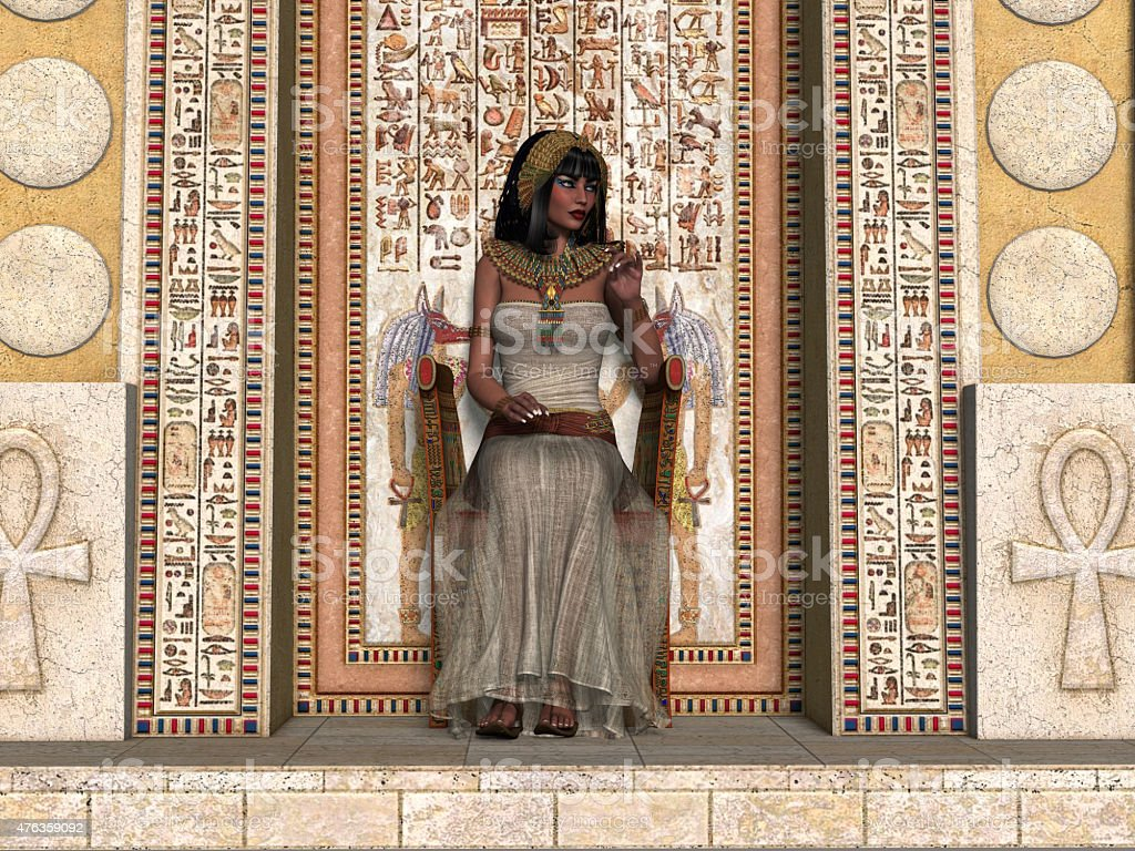 Egyptian Princess Throne stock photo