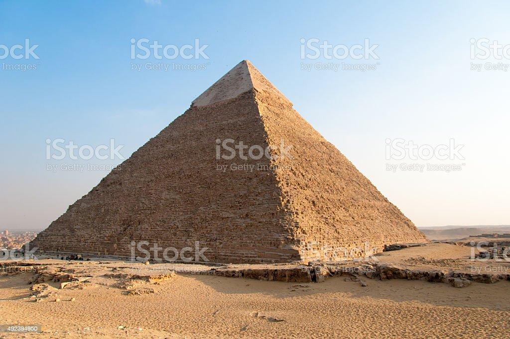 Egyptian Pyramids of the Giza Plateau, Cairo stock photo
