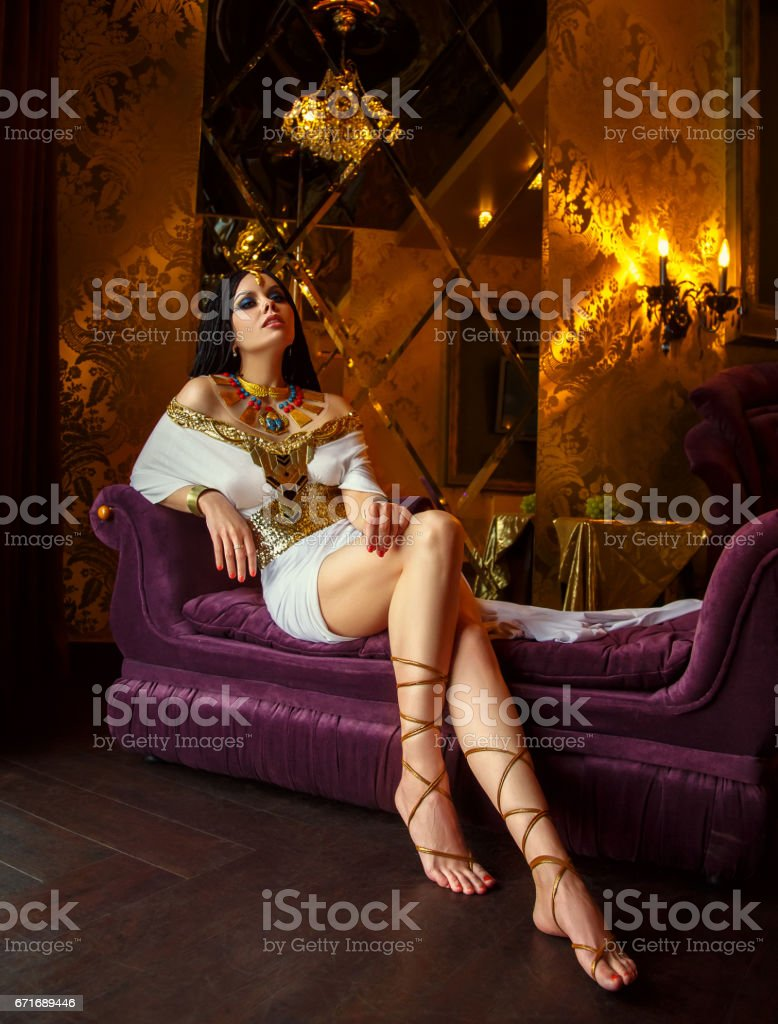 Egyptian queen Cleopatra stock photo