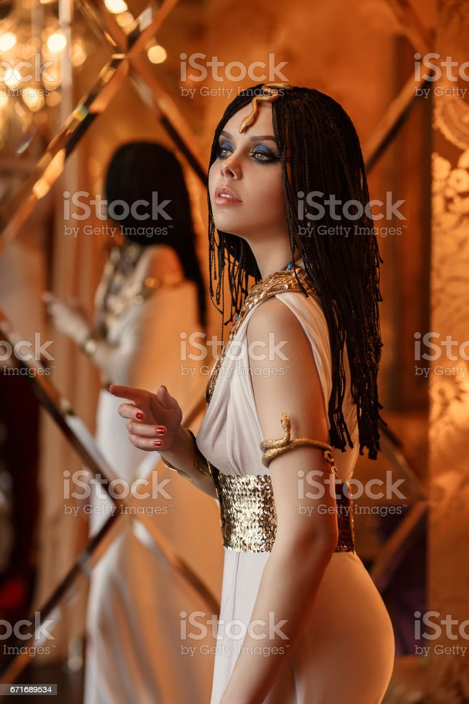 Egyptian queen Cleopatra stock photo