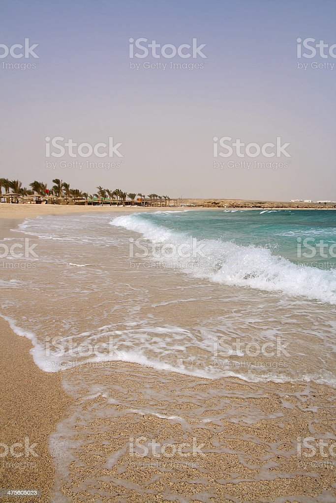 Egyptian Red Sea beach stock photo