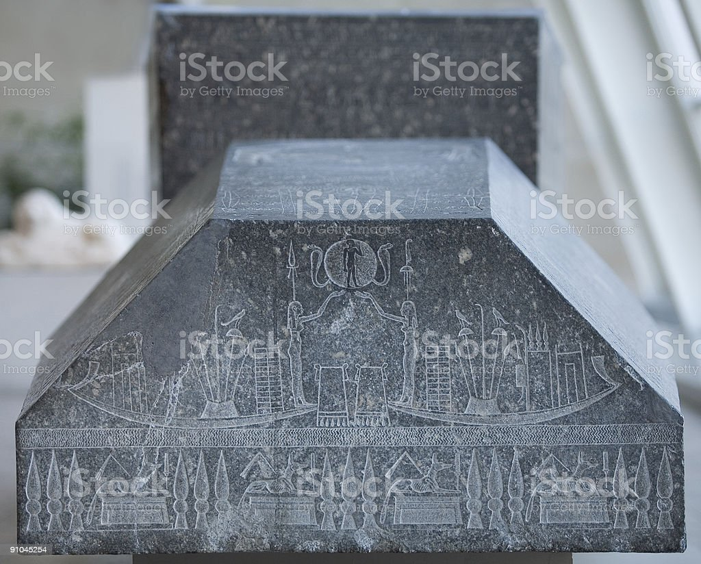 Egyptian sarcophagus royalty-free stock photo