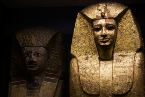 Egyptian sarcophagus used for ancient pharaohs