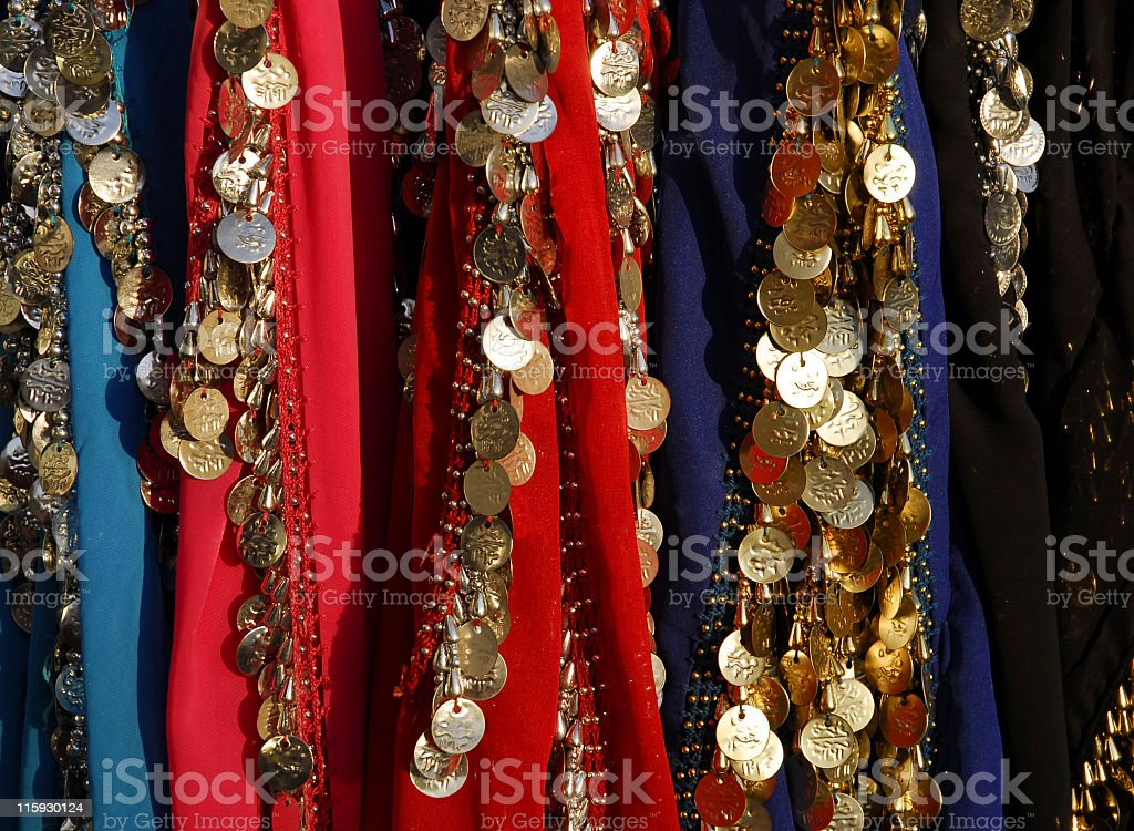Egyptian scarfs royalty-free stock photo