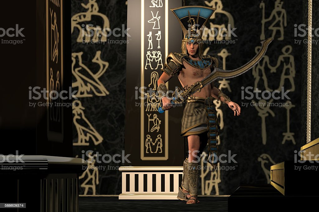 Egyptian Scorpion God stock photo