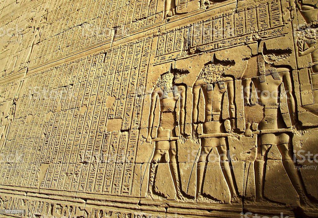 Egyptian script royalty-free stock photo