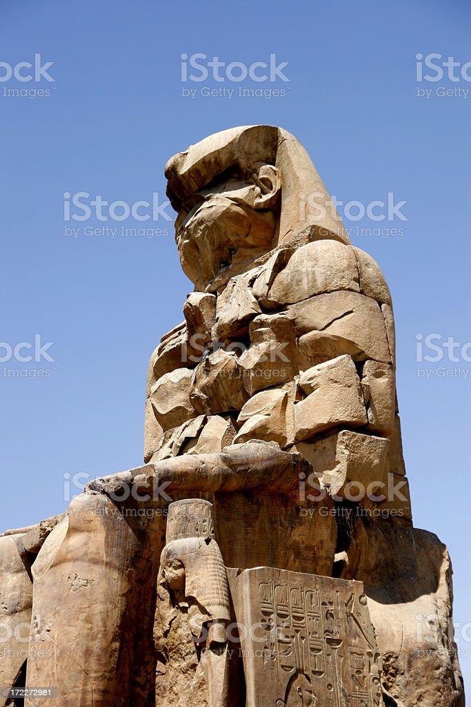 egyptian sculpture royalty-free stock photo