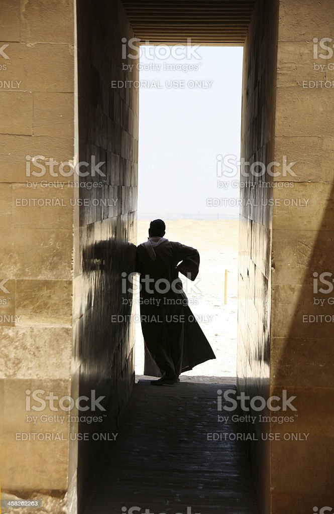 Egyptian silhouette stock photo