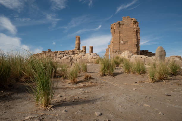 Egyptian Soleb Temple in the Nubian area of the Sudan The remains of this old Egyptian temple only see a few tourists so it's most likely to have it all for oneself. omdurman stock pictures, royalty-free photos & images