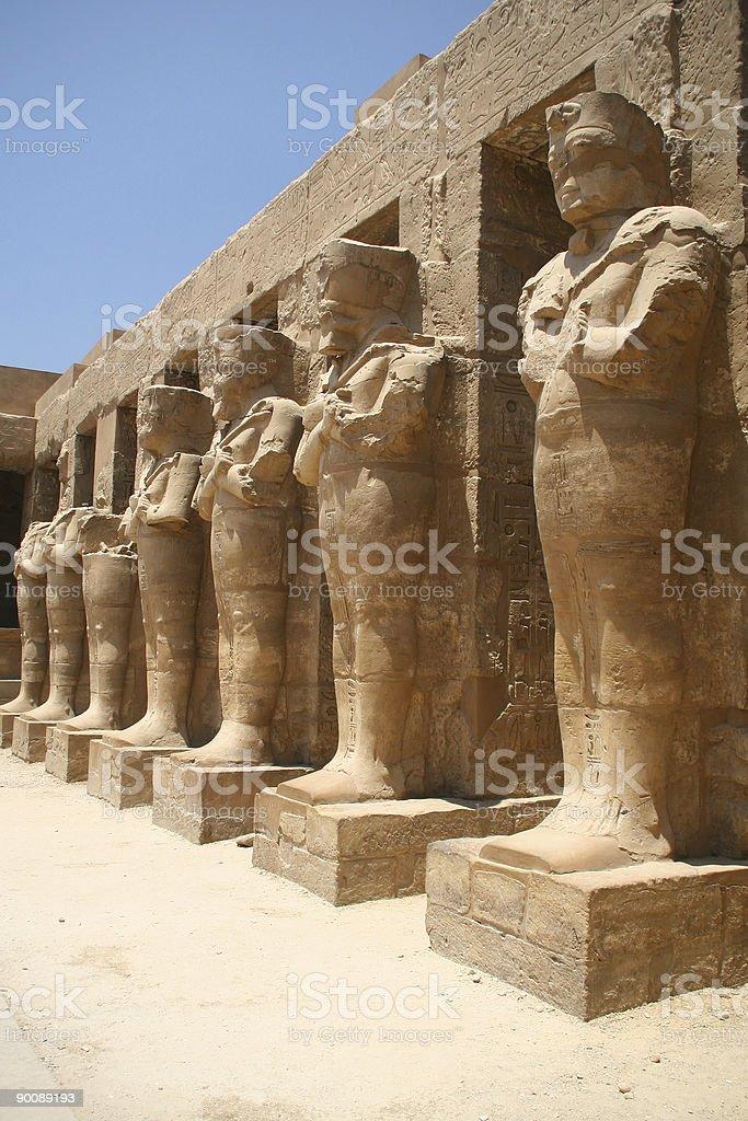 Egyptian statues royalty-free stock photo