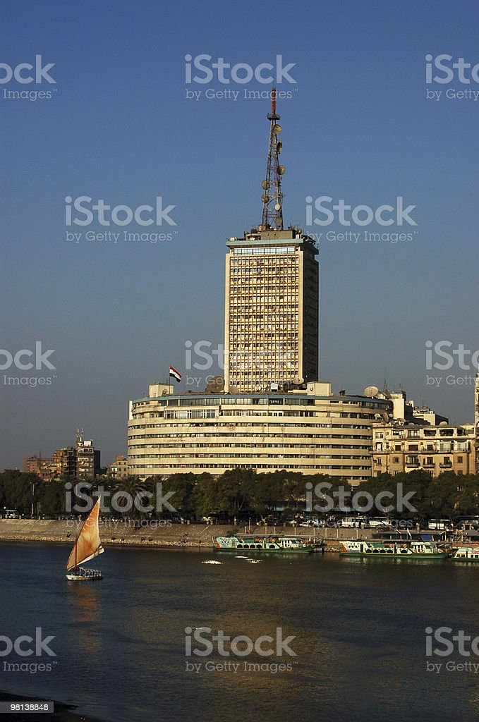 Egyptian Television building royalty-free stock photo