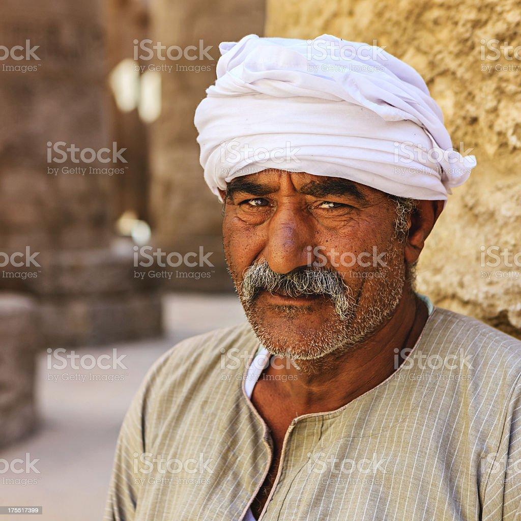 Egyptian temple guard in Karnak Complex, Luxor, Egypt stock photo