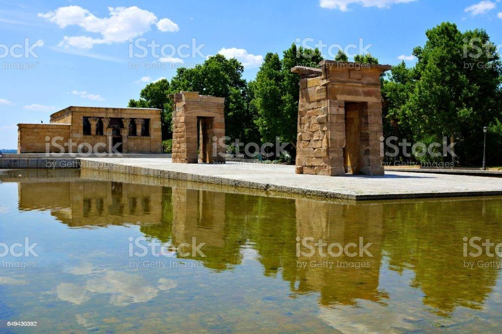 Egyptian Temple of Debod, Madrid, Spain stock photo