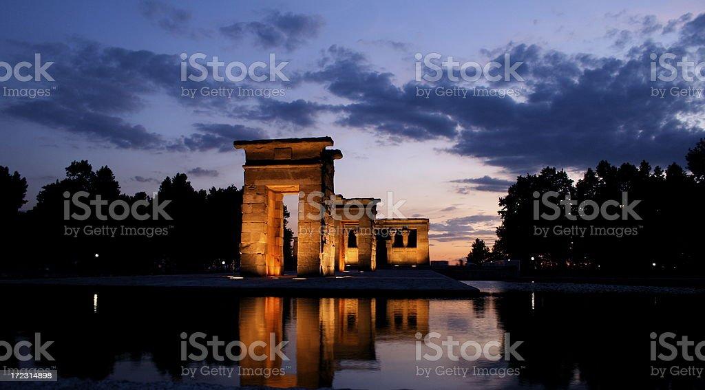 egyptian temple of debod stock photo