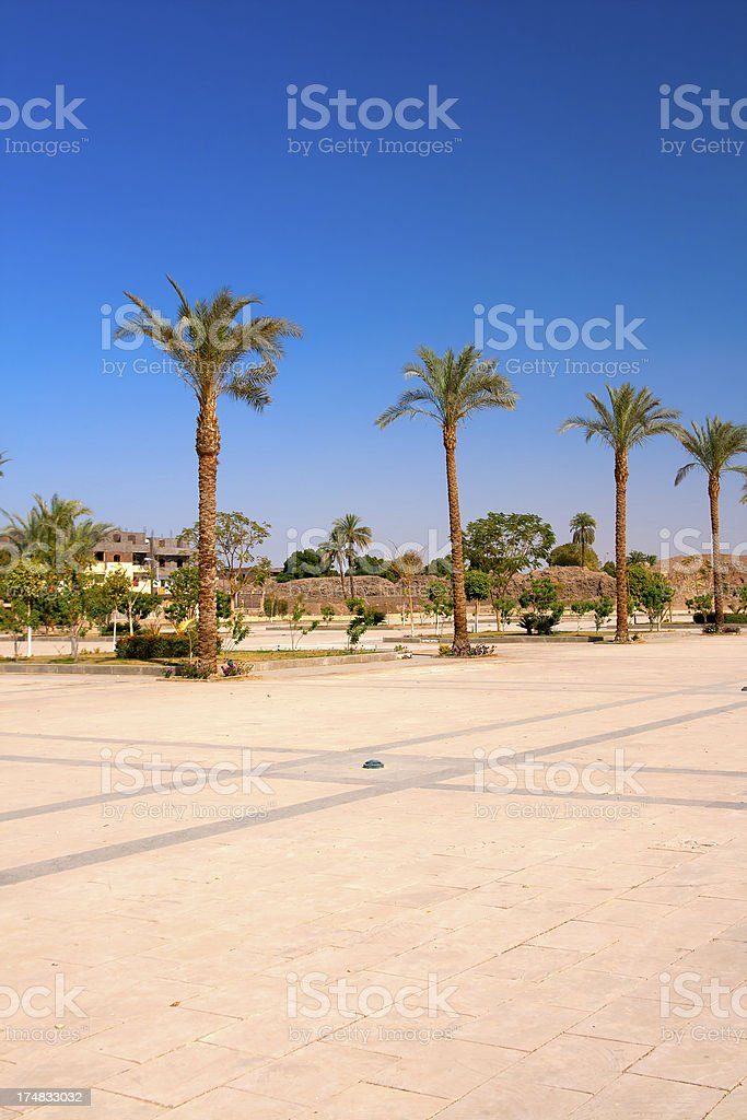 Egyptian town main square royalty-free stock photo