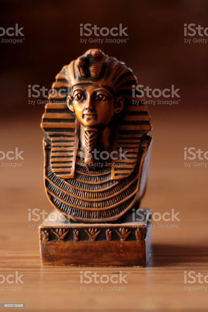 Egyptian traditional culture souvenirs, Tutanchamun stock photo