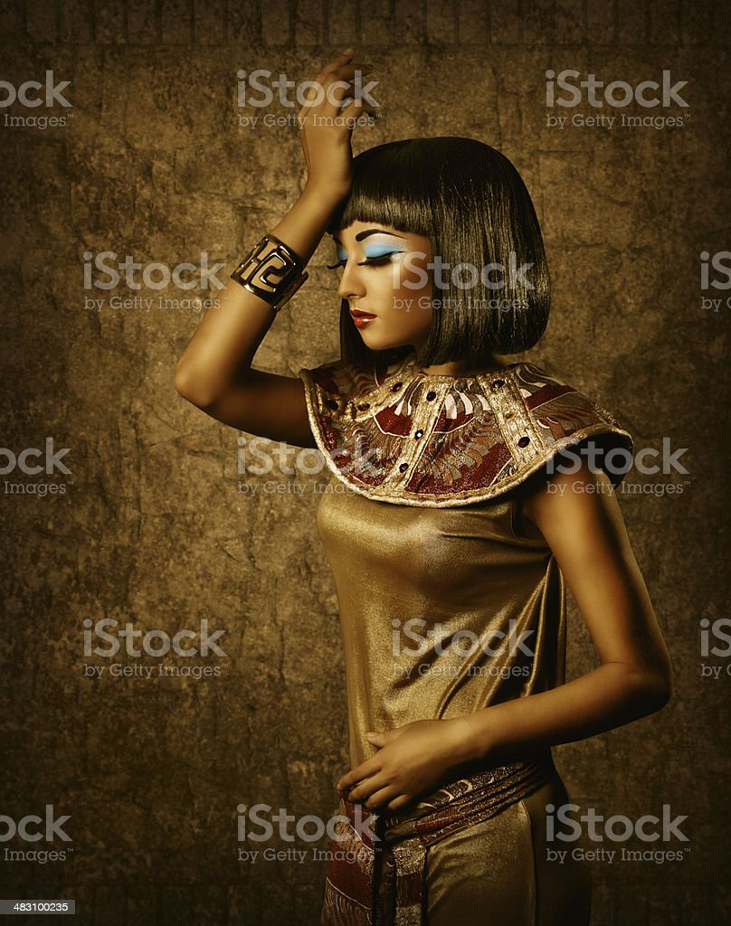 egyptian woman style makeup portrait stock photo