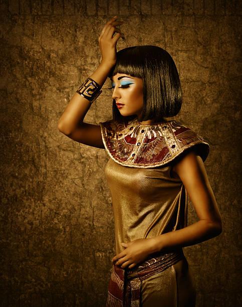 ägyptische frau-stil make-up-porträt - ägyptisches make up stock-fotos und bilder