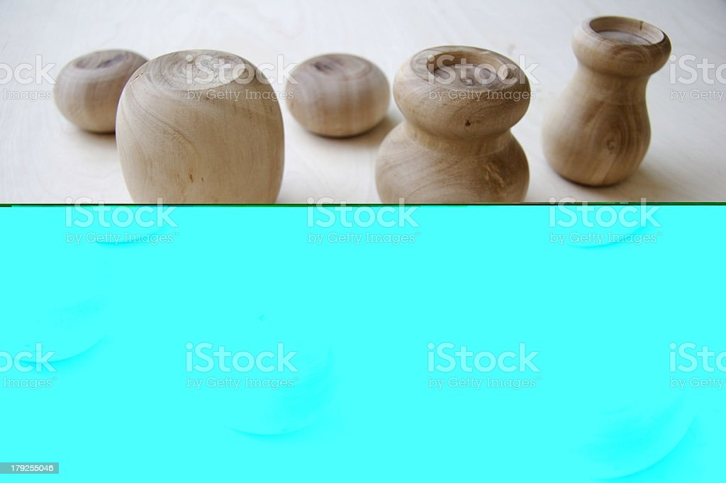 Egyptian wood objects royalty-free stock photo