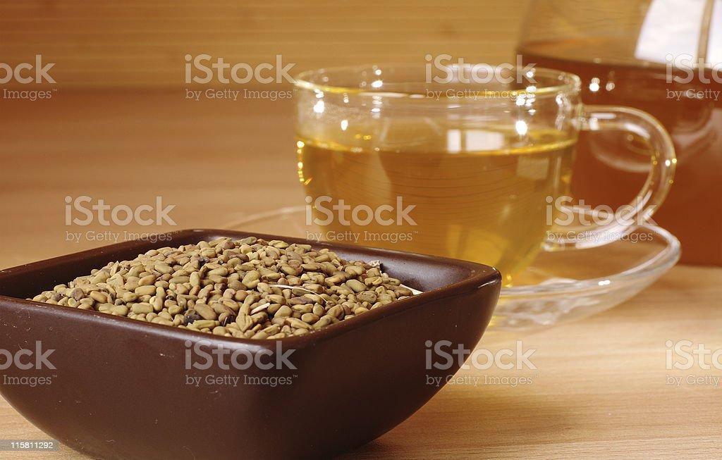 Egyptian yellow tea stock photo