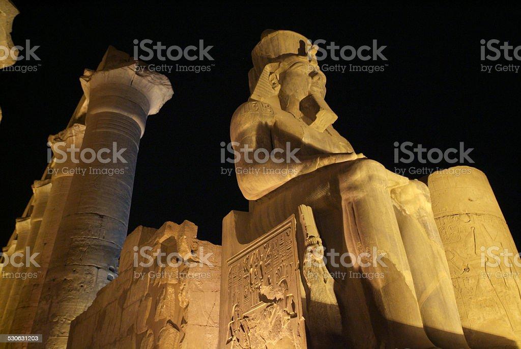 Egypt-Luxor Temple stock photo