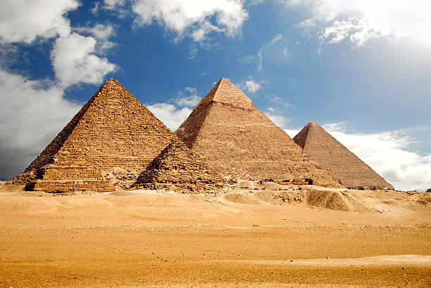 egyptology - pyramid stock photos and pictures