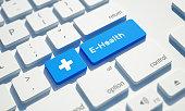 istock E-Health Button on Computer Keyboard 1213557630